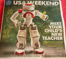 USA WEEKEND AUGUST 2013 PROJO THE ROBOT HELPING KIDS SUCCEED TEENS AND VACCINES