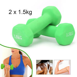 1.5kg Dumbbells Weights Home Gym Fitness Aerobic Exercise Iron Pair Hand