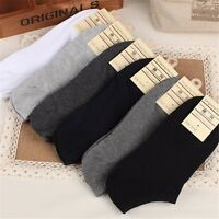 MENS 5 PAIRS COTTON ATHLETIC MULTI COLOR GYM SPORTS SUMMER TRAINER SOCKS 6-11