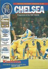 Football Programme - Chelsea v Wimbledon - Premiership - 19/10/1996
