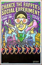 CHANCE THE RAPPER Social Experiment Tour 2016 Ltd Ed New RARE Poster! Hip-Hop