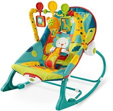 Infant To Toddler Rocker Dark Safari Fisher-Price Bouncer Baby Vibrations New