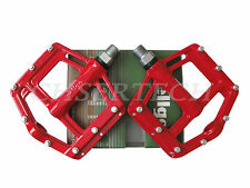 """New Wellgo MG-21 BMX Bicycle Bike Magnesium Pedals 9/16"""" Red"""