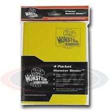 Monster Protector Album Binder 4 Pocket Matte Yellow With 20 Pages