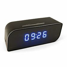 Mains Operated Motion Detection Hidden Spy Camera Clock P2P WiFi IP