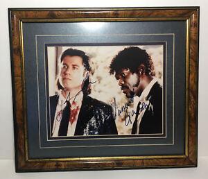 Pulp Fiction 8x10 Autographed Movie Photo Picture - Travolta & Sam L Jackson