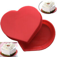 Big Heart Silicone Cake Baking Tin Mold Nonstick Bakeware Pan Chocolate Mould