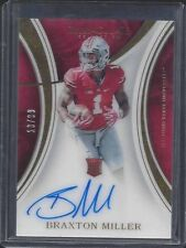 1/1 BRAXTON MILLER 2016 IMMACULATE ON CARD ROOKIE AUTO RC #D 13/99 JERSEY #13 !!