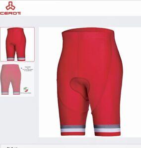 Ceroti Pro+ B9 Long Inseam Powerband Bicycling Shorts Red XL