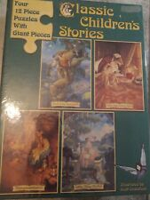 Four 12 Piece Puzzles With Giant Pieces Ilustrated by Scoot Gustafson