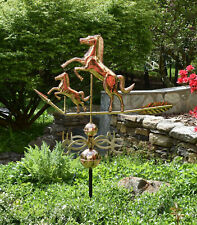 """Mare and Colt Weathervane - 44"""" long- pure Copper with solid Cast Brass N-S-E-W"""