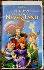 Peter Pan In Return To Neverland VHS (23964) Walt Disney Sequel Clamshell