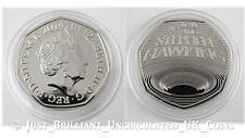 2019 Stephen Hawking Fifty Pence 50p Coin Brilliant Uncirculated BUNC BU UK GB