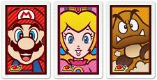 NINTENDO 3DS AUGMENTED REALITY AR CARDS * MARIO, PRINCESS PEACH, GOOMBA