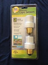 2 Pack Automatic Light Sensors On At Night Off During The Day Photo Sensor Light