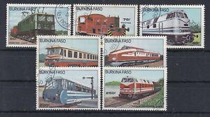 7232 Burkina-Faso Lokomotiven 1043-49 gestempelt (588)