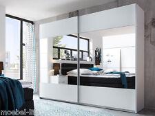 PARIS Schwebetürenschrank Schlafzimmer Kleiderschrank B270 Dekor Weiß Spiegel