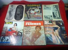 Vtg 1960s Lot of 6 Adult Magazines Femmes Pepper Score Eve Cordial & Unmarked