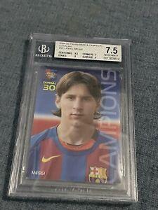 2004/05 panini barca megacracks campio #35 Lionel Messi Rookie bgs 7.5. Catalan