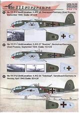 Print Scale Decals 1/72 HEINKEL He-111P German WWII Bomber
