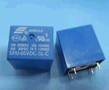 10pcs 5pins 5V SRU-05VDC-SL-C 10A 250VAC/30VDC SONGLE Relay