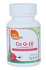 New Zahler CoQ10, High Absorption Pure Coenzyme Q-10 Supplement, 60 Count