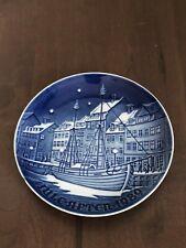 """1989 Copenhagen Porcelain Bing & Grondahl Denmark 9089 """"Christmas Anchorage"""""""