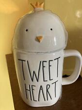 "NEW Rae Dunn ""TWEET HEART"" Easter Spring Chick Topper Mug LL"