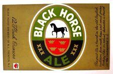 Black Horse Brewery of N.J.- BLACK HORSE ALE beer label NJ 12oz Logo bottom left