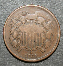 BIG 2 Cent Madness Sale - 1865 US 2 Cent Piece VG