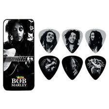 BOB MARLEY Guitar Picks 6 Pack Tin Box Guitar OFFICIAL MERCHANDISE