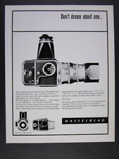 1964 Hasselblad 500C Camera 'Don't dream about one...' vintage print Ad