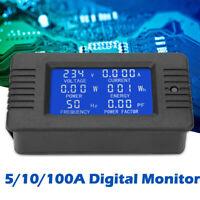 LCD Digital Panel Power Watt Meter Monitor Voltage KWh Voltmeter Ammeter