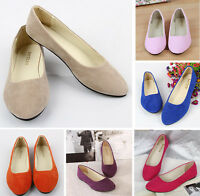 Woman Lady Casual Ballet Flats Slip On Boat Shoes Low Heel Sapatos Loafers Pumps