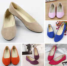 Women 11 Colors Ballet Shoes Flats Plus Size 43 Casual Shoe Solid Womens Loafers