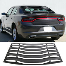 Fits 11-20 Dodge Charger Rear Window Louver Cover Vent Black ABS