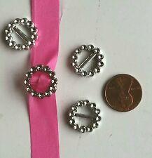 100 Acrylic Round Buckle Invitation Ribbon Slider For Wedding Supplies