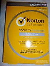 Norton Security Premium  - 10 Devices  Product Key Card [1 Year Free Shipping]