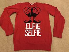 Novelty Christmas Jumper - Selfie Elfie - H&M - 12/14 Years