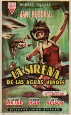 PROGRAMA CINE: LA SIRENA DE LAS AGUAS VERDES, JANE RUSSELL, GILBERT ROLAND