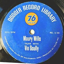 L.A. DODGERS BASEBALL EP record: MAURY WILLS Talks With VIN SCULLY + DON SUTTON