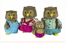 New LI'L LIL WOODZEEZ WhoosWhoos OWL FAMILY fits Calico Critters!  Ships Today!