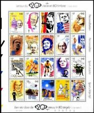 Belgium**TINTIN-GANDHI-CHAPLIN-PIAF-SHEET 20vals-1999-MANDELA-LENIN-JFK-BRANDT
