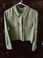 Tru Supply Women's Green Linen Jacket - Size S