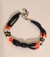 Glass Seed Bead Multi Color Boho Bracelet