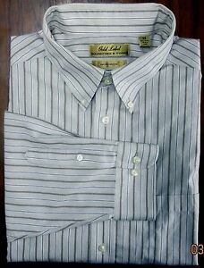 ROUNDTREE & YORKE GOLD LABEL NON-IRON STRIPED DRESS SHIRT 2X