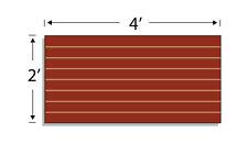 Low Pressure Laminate Slatwall Panels, 4'(W) X2'(H), Cherry- Set of 2