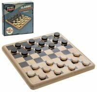 VINTAGE STYLE RETRO RIDLEYS FAMILY CLASSIC DRAUGHTS CHECKERS SET GAME NEW BOXED