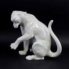 Porzellan Figur Panther Weiß Wagner&Apel 25x15x22cm 9942545