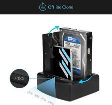 Salcar 2 Baies Station d'accueil USB 3.0 pour Disque Dur SATA de 2,5/3,5 Pouces